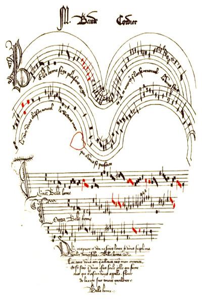 Graphic heart Baude Cordier's Belle, Bonne, Sage